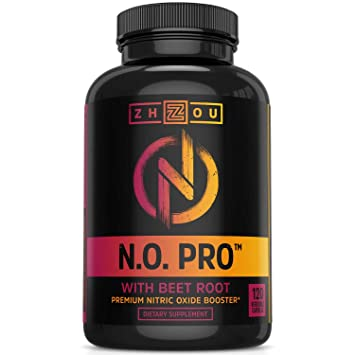 Zhou Nutrition Nitric Oxide Supplement with L Arginine - Best Nitric Oxide Supplements for Men