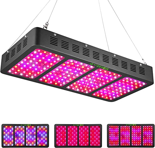 Updayday UP-2500R LED Plant Grow Light Full Spectrum Indoor Plant Lamps with Dimmable Timer and Daisy Chain Function for Planting Tent Hydroponics Greenhouse Bloom Veg Flowers