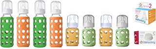 product image for Lifefactory Glass Baby Bottles Combo Pack - 12 Piece Bottle Kit for Newborn to 6 Months (Neutral Colors)