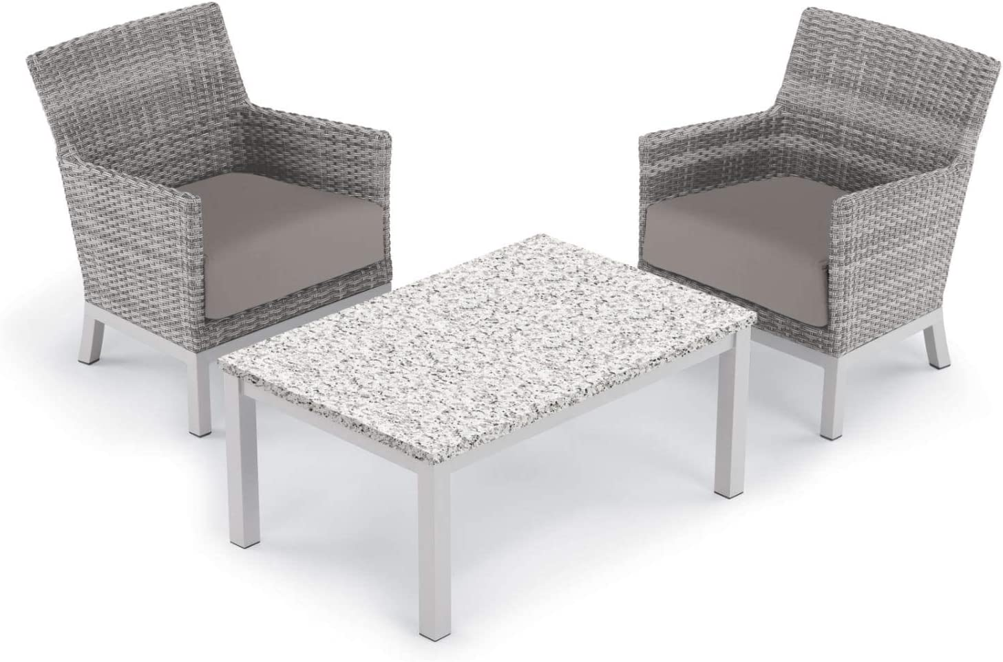 Oxford Garden 5562 Argento & Travira Furniture Set, Powder Coat Flint