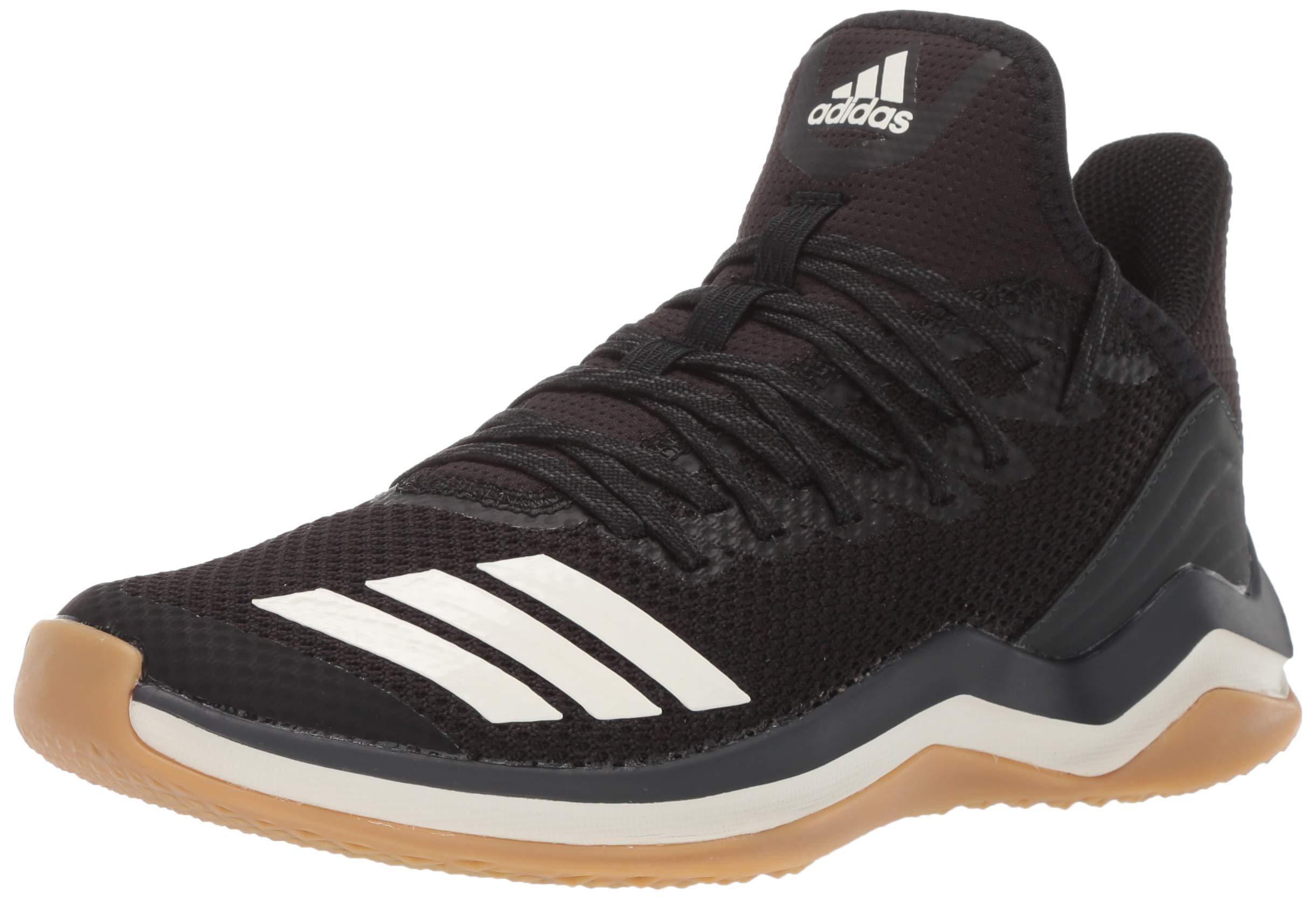 adidas Men's Icon 4 Baseball Shoe, BlackCloud WhiteCarbon, 13 M US