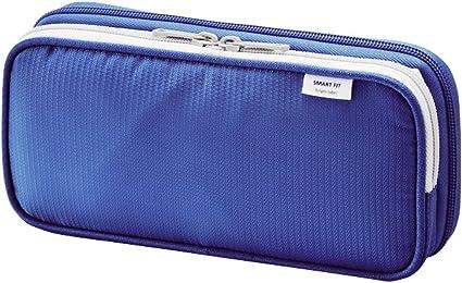 Lihit Lab A-7661-8 - Estuche doble , 220mm × 45mm × 105mm , color Azul: Amazon.es: Oficina y papelería