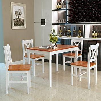 onlyeu Dora 5 piezas Juego de mesa comedor grupo - Juego de sillas ...