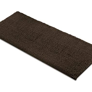 MAYSHINE Bath mat Runners for Bathroom Rugs,Long Floor mats,Extra Soft, Absorbent, Thickening Shaggy Microfiber,Machine-Washable, Perfect for Doormats,Tub, Shower(27.5X47 inch Brown)