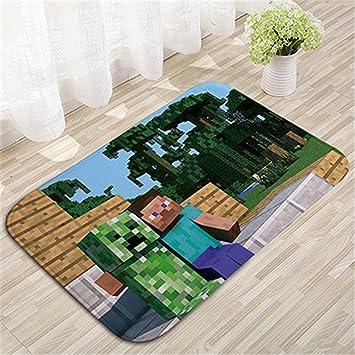 TDUK My World Bedruckt Fußmatte Rutschfest Minecraft Fußmatte ...
