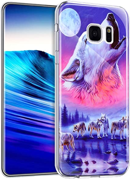 Surakey Coque Galaxy S7 Edge Housse Galaxy S7 Edge,Nuit-lumière ...
