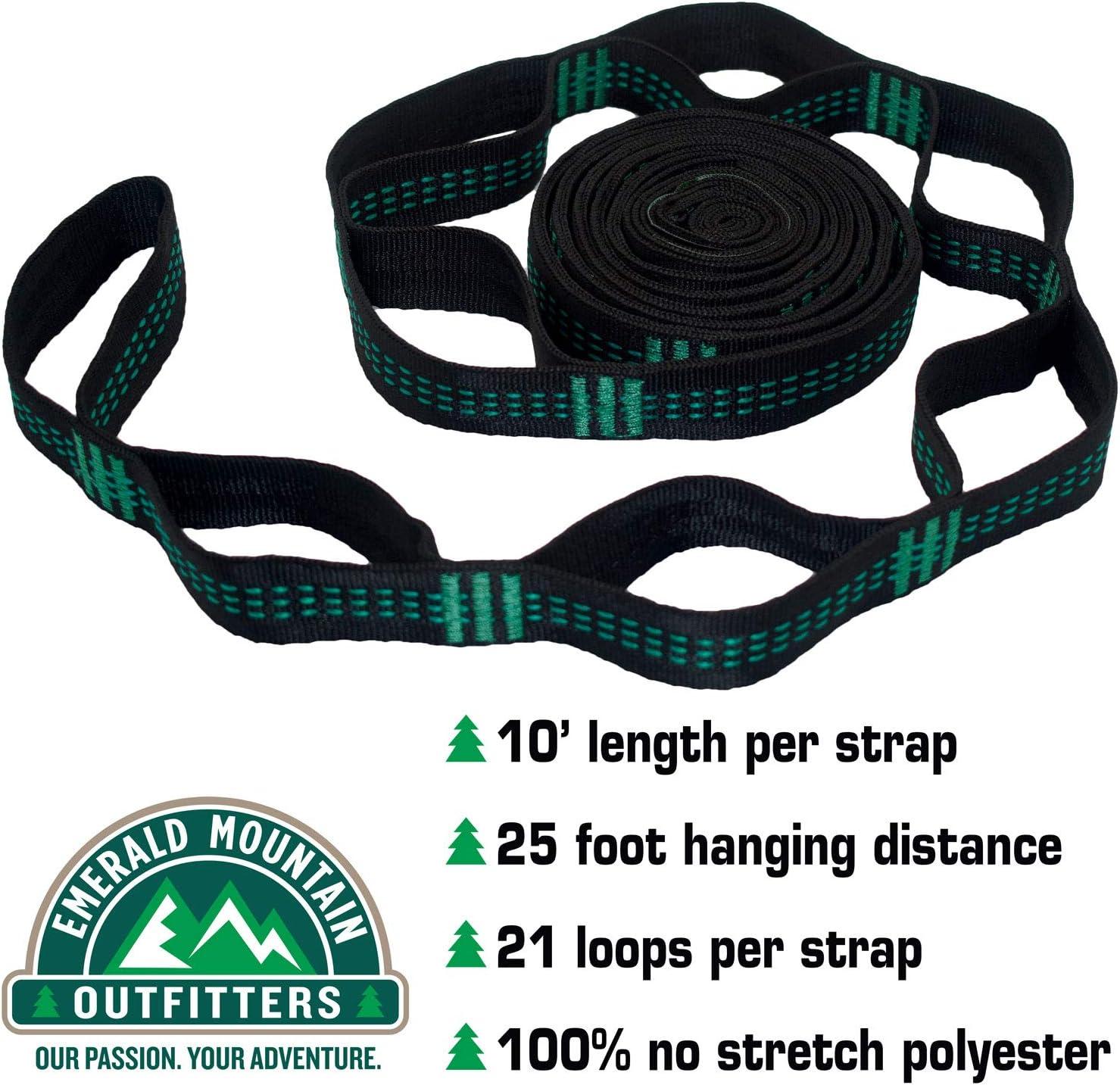 Polyester Slap Straps Suspension Hanging System for ENO Hammock 800 Pounds