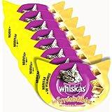 WHISKAS - Les Irrésistibles - Au Poulet et au Fromage- Friandises pour chats - Boîte de 60 g - Lot de 8
