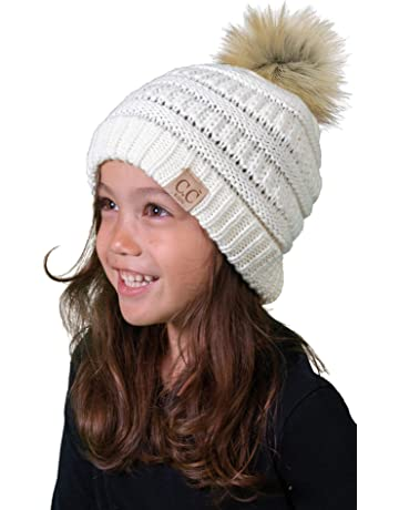 a4dd8e1d673 Funky Junque Kids Baby Toddler Cable Knit Children s Pom Winter Hat Beanie