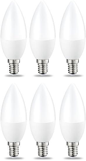 DE Dimmbar E14 5W LED Kerzenlampe Birne Kerzenform Warmweiß 12//6Stk weiß A+