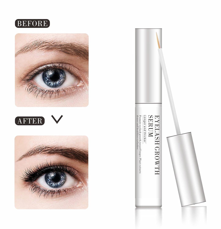 1a1b1bba825 Amazon.com: Eyelash Growth Serum-2018 Upgrade Lash Boost&Eyebrow Growth  Serum with Natural Exacts for Longer Thicker Eyelash and Brow, Lash  Enhancer Nourish ...