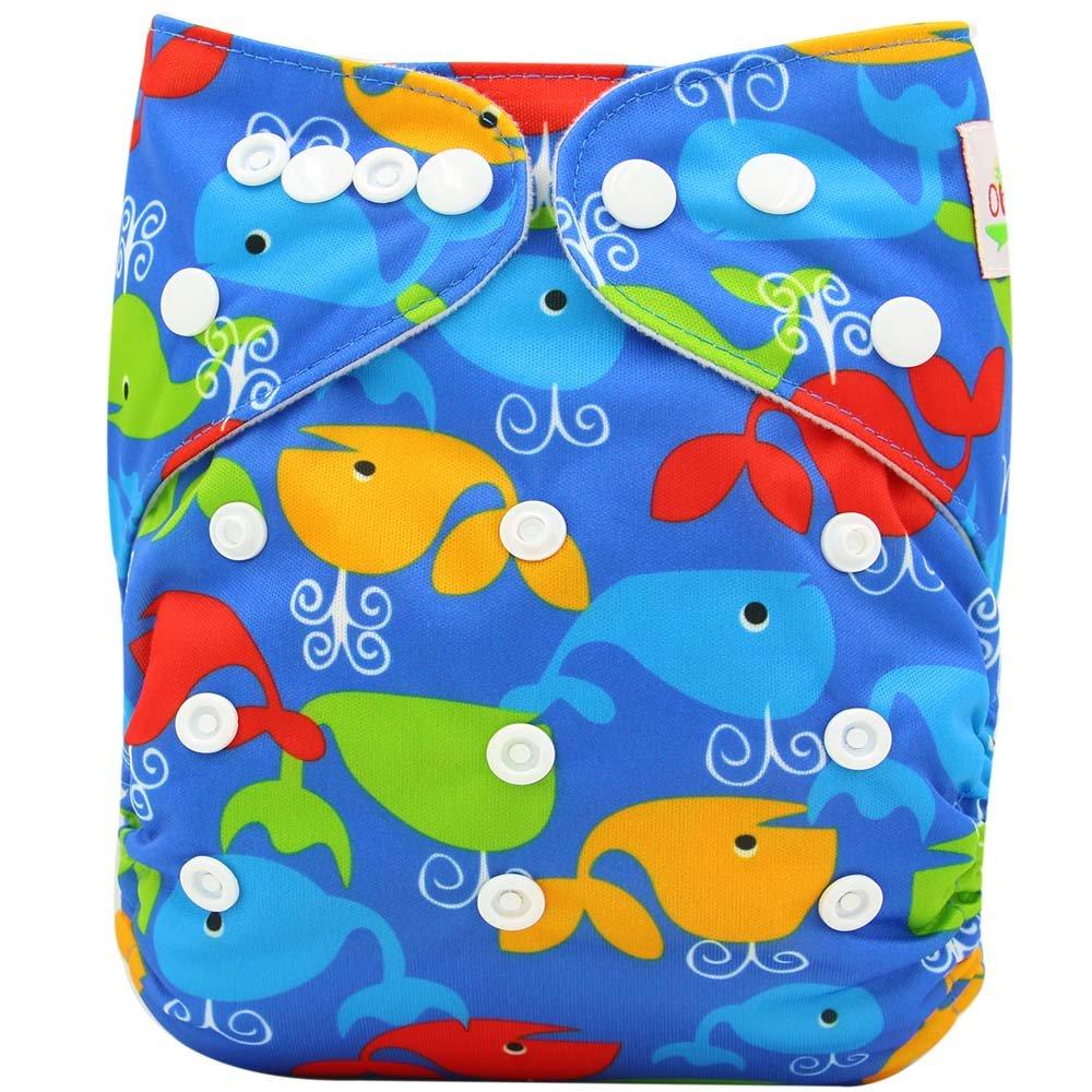 Ohbabyka Pa/ñales unisex de tela estilo bolsillo para beb/és con 1 tela interna de gamuza suave OB102-Fox Talla:talla /única