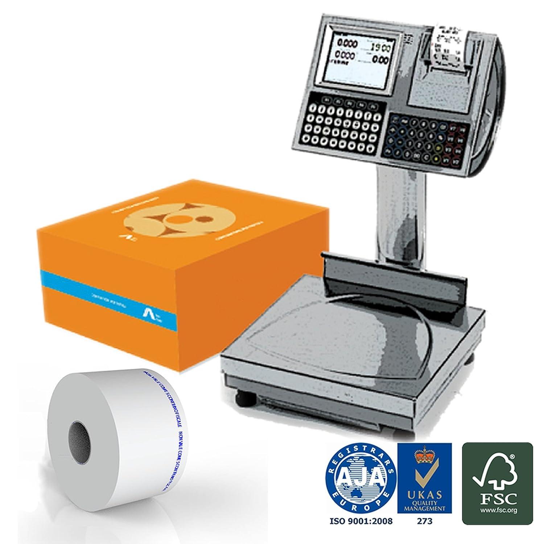 Confezione 48 Rotoli in Carta Termica Adesiva mm 60x40 mt Anima 40 mm per BILANCE ELETTRONICHE Carta Termica 1^ Qualità NO OEM