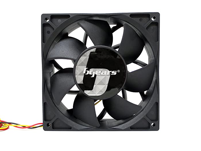 Bgears b-Blaster 140x38 Hi-Speed 5200RPM with 308CFM 2 Ball Bearing Fan Black