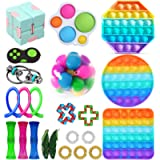 Fidget Toys Set, Cheap Sensory Fidget Pack with Simple Dimple Pop Bubble Infinite Cube Stress Ball &More, Stress…