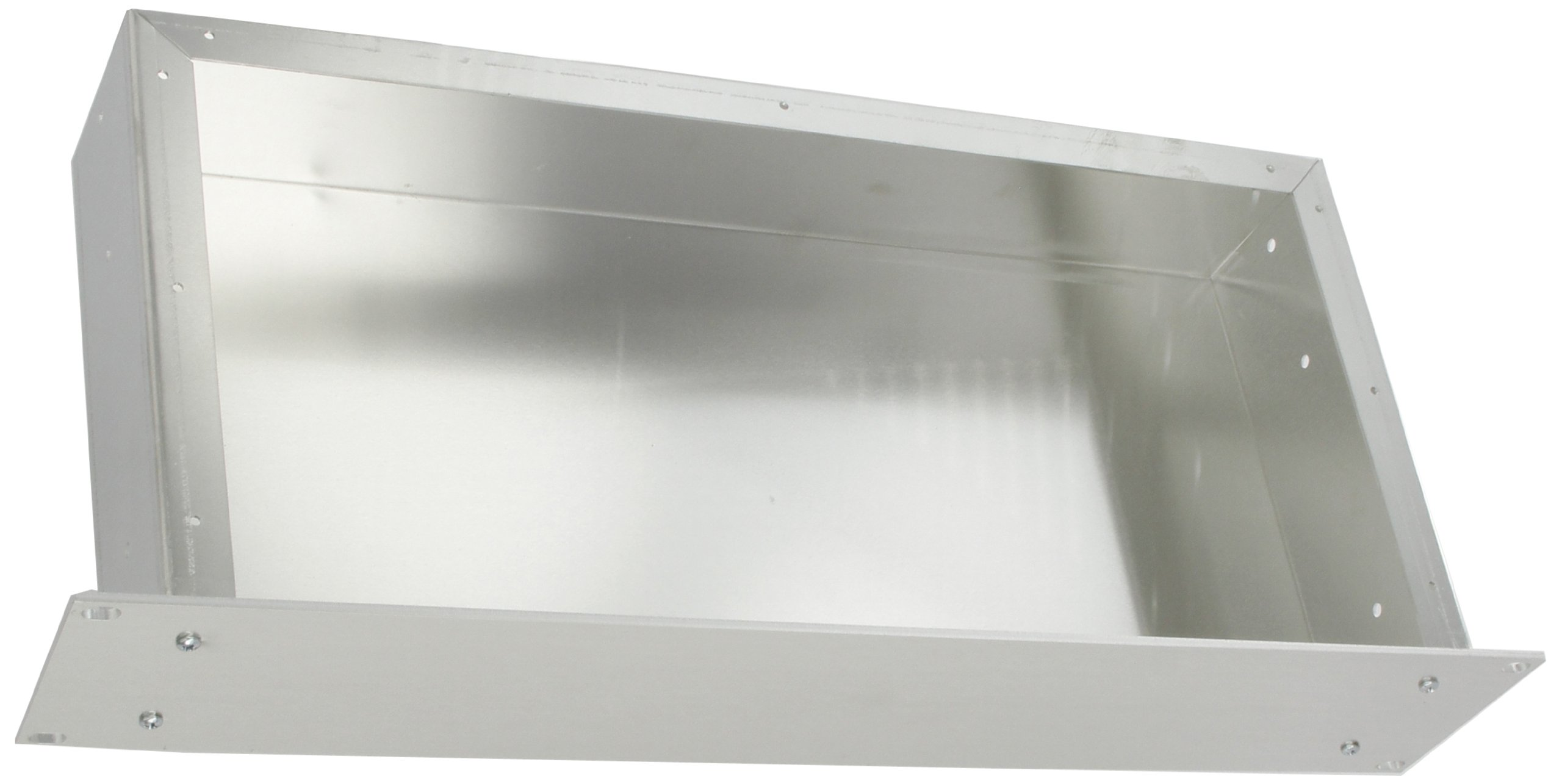 BUD Industries CH-14403 Aluminum Small Rack Mount Chassis, 17'' Width x 3-1/2'' Height x 8'' Depth, Natural Finish
