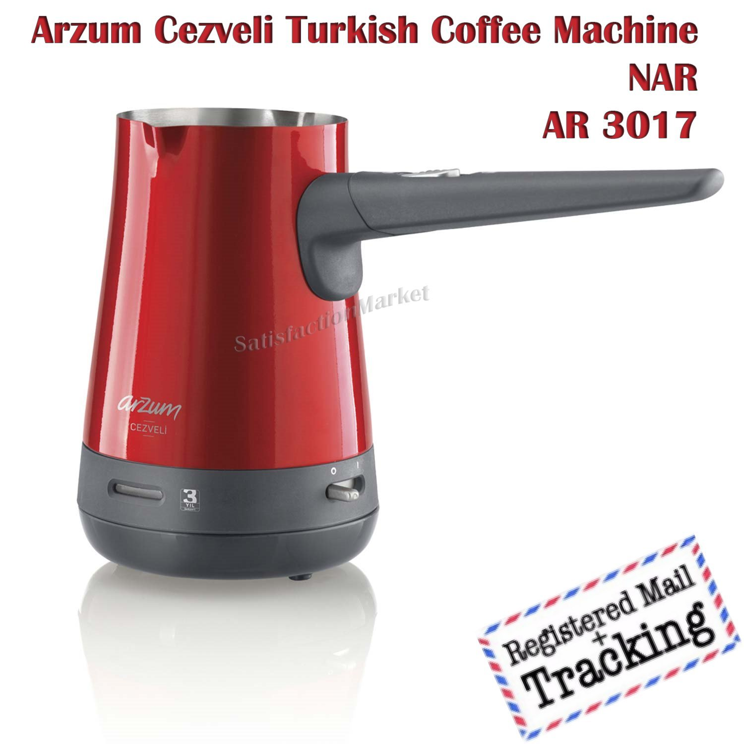 Arzum Cezveli Turkish Coffee Maker AR3017 Nar RED Color by Arzum