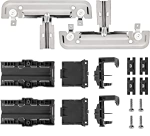 W10712394 Dishwasher Upper Rack Adjuster Kit Replacement for Whirlpool Kenmore Dishwasher Parts Replaces W10238418 W10253546 W10712394VP W10350376 AP5956100 PS10064063