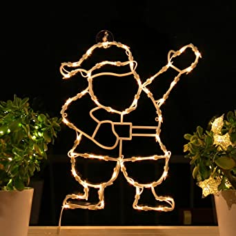 Weihnachtsdeko Beleuchtet.Fenster Silhouette Weihnachten 45cm Weihnachtsdeko Fensterbilder Beleuchtet Weihnachtsbeleuchtung Innen Fensterdeko Zum Aufhängen
