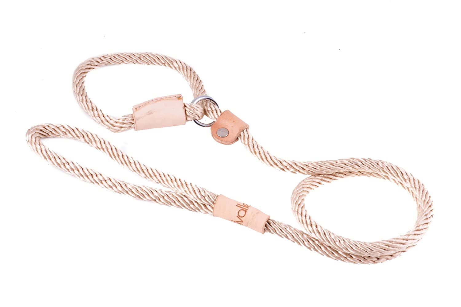 Beige Alvalley Beige Sport Slip Lead with Leather Stop for Dogs Made of Strong Multifilament Polypropylene Rope (8mm X 123cm Or 5 16 in X 4ft)