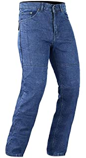 Size 32S Stone Wash Denim Bikers Gear Australia Kevlar Lined Protective Classic Motorcycle Jeans with CE 1621-1 Removable Armour