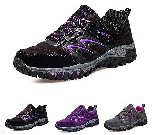 ecb2603e5 gracosy Scarpe da Trekking Donna Arrampicata Sportive All'aperto  Escursionismo Sneakers Passeggiata Impermeabili Scarpe da