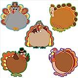 40 Pieces Turkey Cut-Outs Versatile Classroom Decoration Creative Turkey Cut-Outs for Bulletin Board Classroom School Fall Th