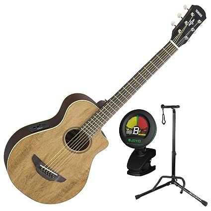 Yamaha apxt2ew na 3/4 Escala Mini Thinline Natural acústica guitarra eléctrica w/stand