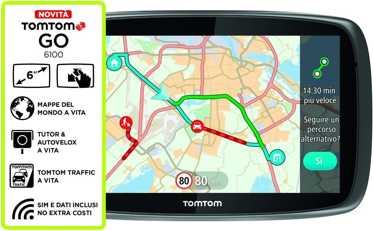 TomTom GO 6100 World- Sistema de navegación GPS (6
