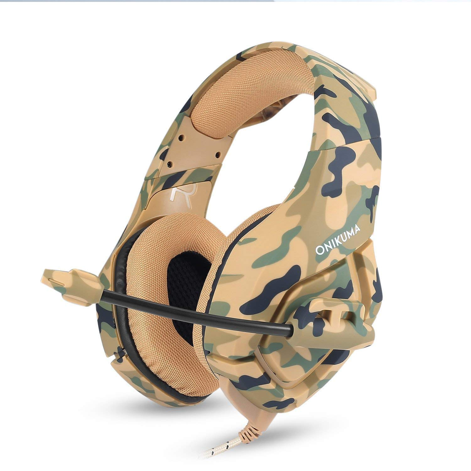 Stereo Gaming Headset for PC, PS4, Xbox One, Playstation Games, Noise Cancelling Over Ear Headphones for Laptop, Nintendo Switch Camouflage