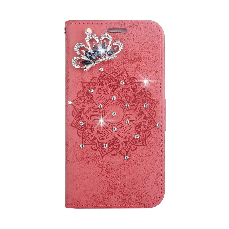 Coque Galaxy A5 2016, SONWO Premium PU Cuir Portefeuille de Protection Étui avec Fentes de la Carte pour Samsung Galaxy A5 2016, Rouge