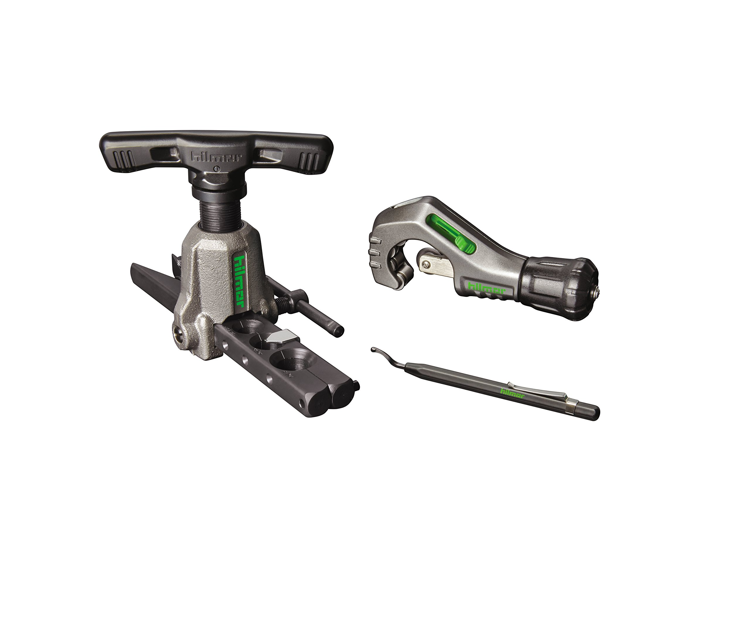 Hilmor 1937685 Orbital Flare Kit with Tubing Cutter and Deburring Tool by Hilmor