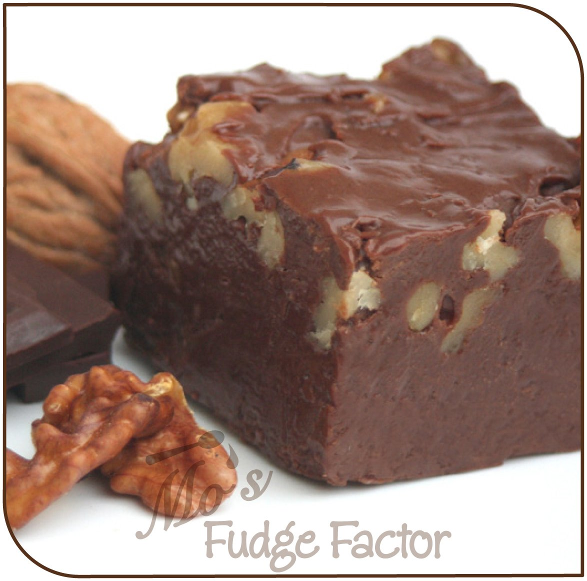 Mo's Fudge Factor, Chocolate Walnut Fudge 2 pounds