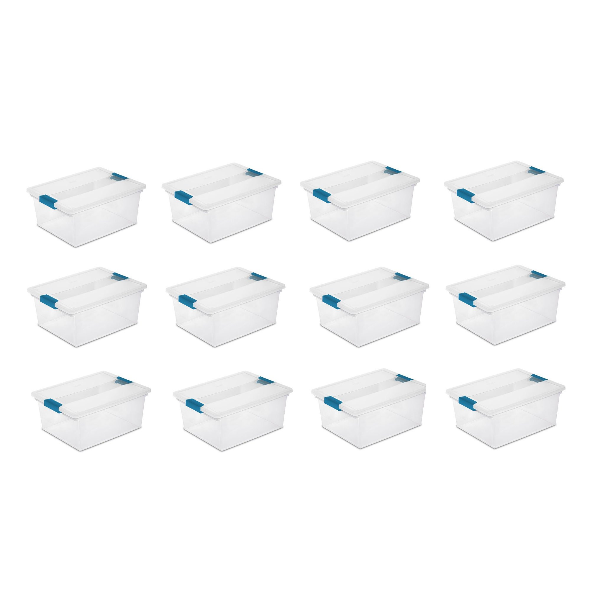 Sterilite Deep File Storage Container w/Lid, 12-Pack