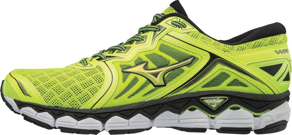 Mizuno Wave Sky, Zapatillas de Running para Hombre 48.5 EU|SafetyYellow/SafetyYellow/Black
