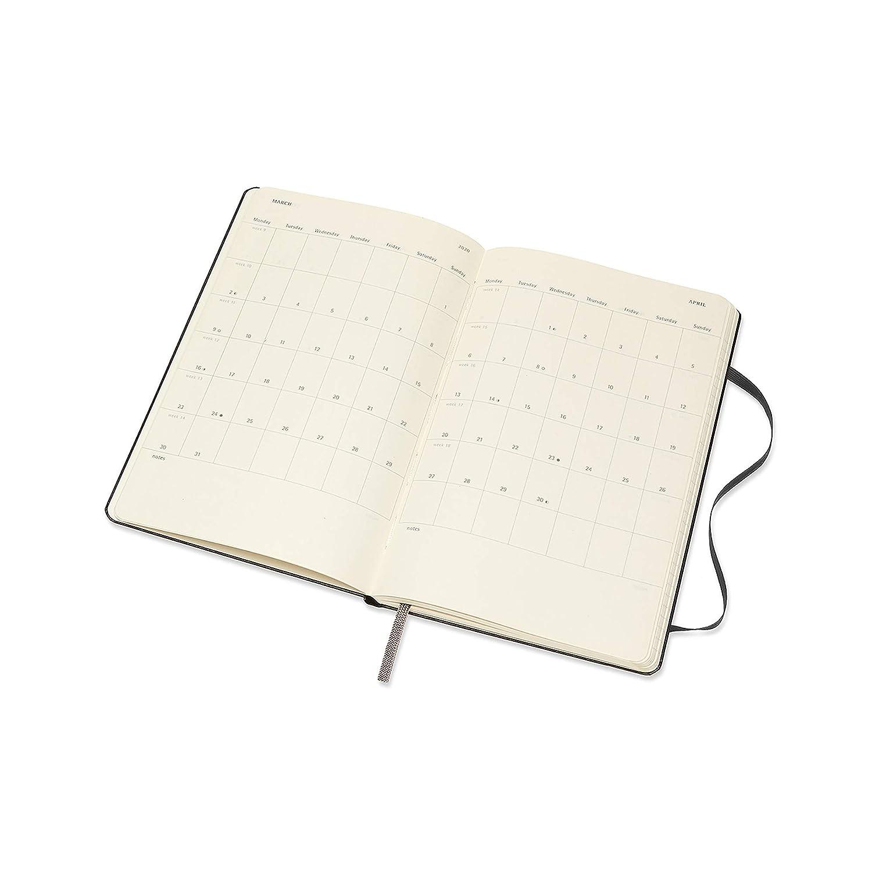 Moleskine 2020 Weekly Vertical Planner, 12M, Large, Black, Hard Cover (5 x 8.25)