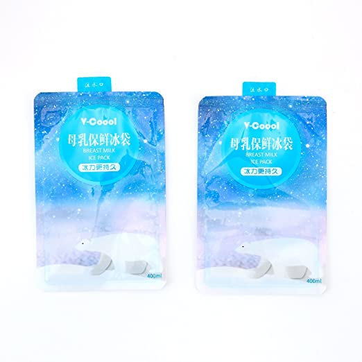 V-Coool Paquete de 10 paquetes de hielo, mantén la leche materna ...
