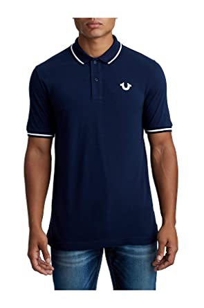 dbc89d155 Amazon.com  True Religion Men s Crafted with Pride Polo  Clothing