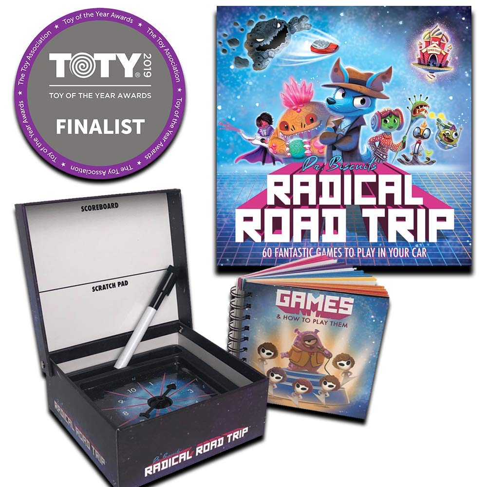 Dr. Biscuits' Radical Road Trip - Kids Travel Game - 60 Fun Games to Play in Your Car by Game Night In A Can
