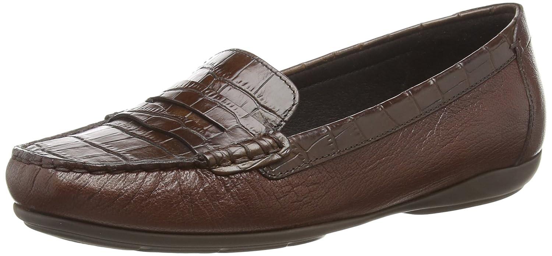 Geox D Annytah MOC C, Mocassins (Loafers) Femme, Marron (Brown C0013), 36 EU