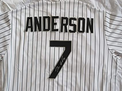 finest selection a6eea ed305 Tim Anderson Autographed Chicago White Sox Jersey W/PROOF ...