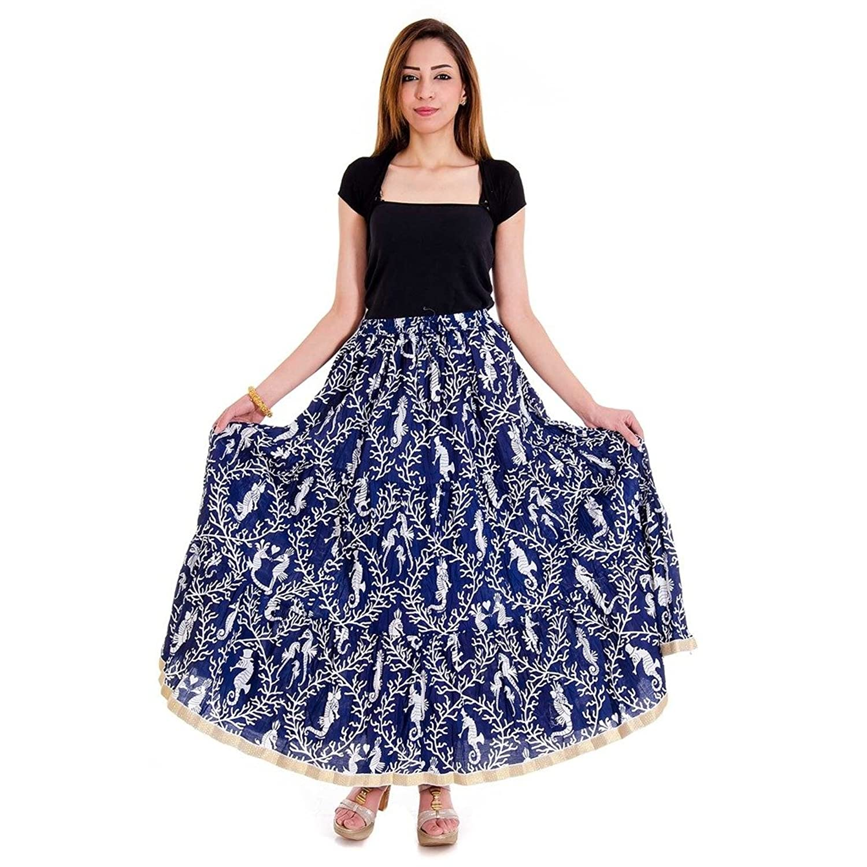 Pretty Sea Hourse Print Design Wrap Arround Skirt