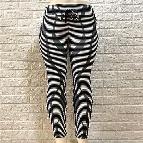 Donne Corsa Allenamento Palestra Pantaloni Collant a Compressione Sportivo