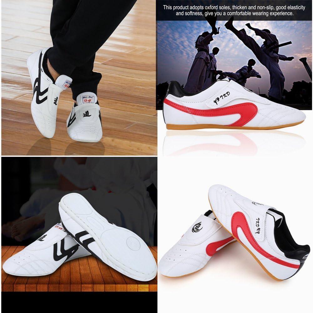 Taekwondo Shoes Martial Arts Sneaker Boxing Karate Kung Fu Tai Chi Shoes Black Stripes Sneakers Lightweight Shoes : Sports & Outdoors