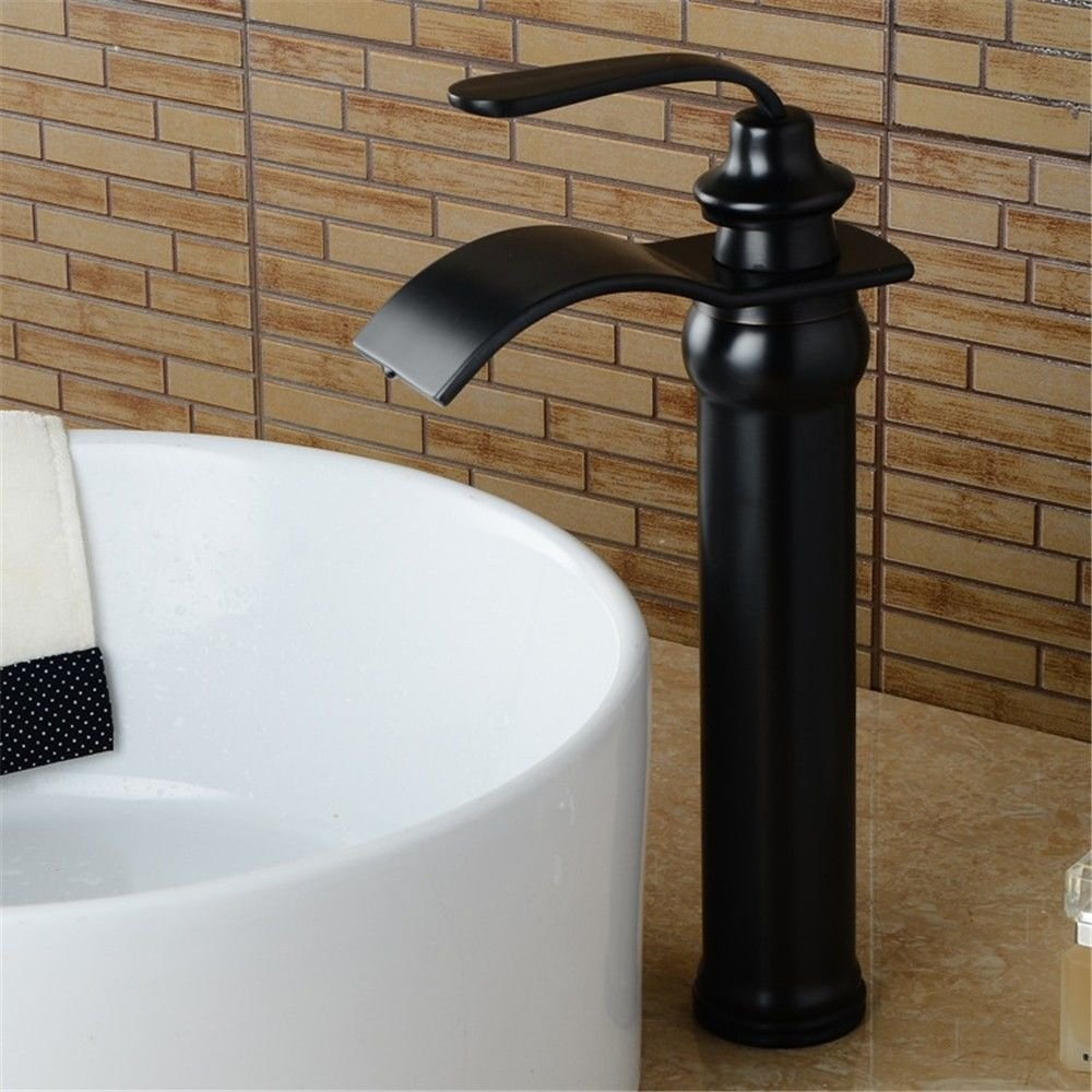 Black High of Ancient gold Inlay NewBorn Faucet Kitchen Or Bathroom Sink Mixer Tap Black Antiquewater Water Tap Basin Sink Antique Water Tap Full Copper Fall Water Tap Low