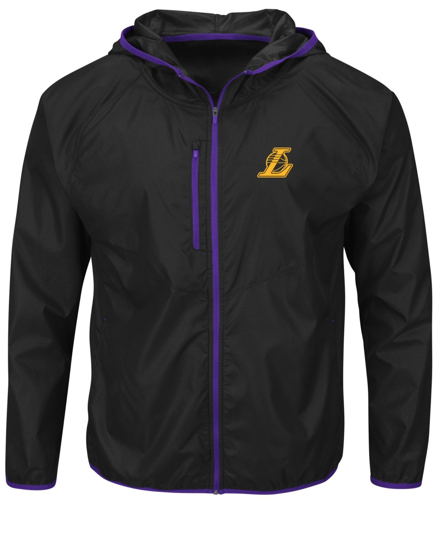 VF LSG NBA Los Angeles Lakers Men's Extraordinary Achievement Long Sleeve Full Zip Jacket, XX-Large, Black/Regal Purple by VF LSG