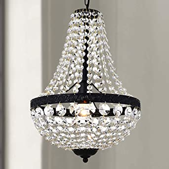 Bestier Modern French Empire Black Finish Farmhouse Crystal Pendant Chandelier Lighting Led Ceiling Light Fixture Lamp Dining Room Bathroom Bedroom Livingroom 1e26 Bulbs Required H18 In X D12 In Amazon Com,Navy Blue Accent Wall Living Room Ideas