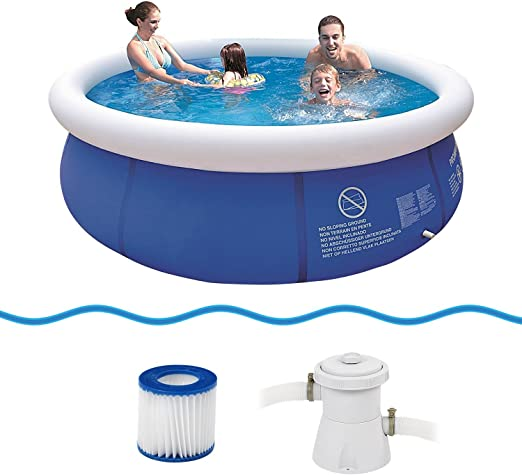 JILONG Prompt Set Pool Marin Blue 300 Set - Set de Piscina Quick ...
