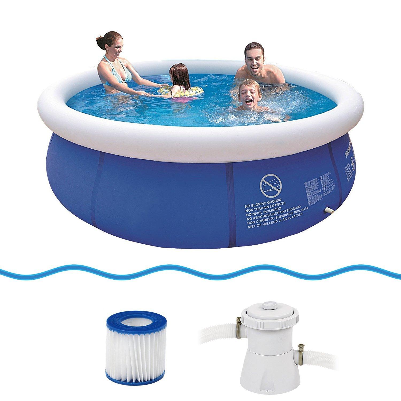 presa di fabbrica Jilong Prompt Set Pool Marin blu 300 Set Set Set - Set Piscina Quick Up con Pompa Filtrante 300X76Cm  ottima selezione e consegna rapida