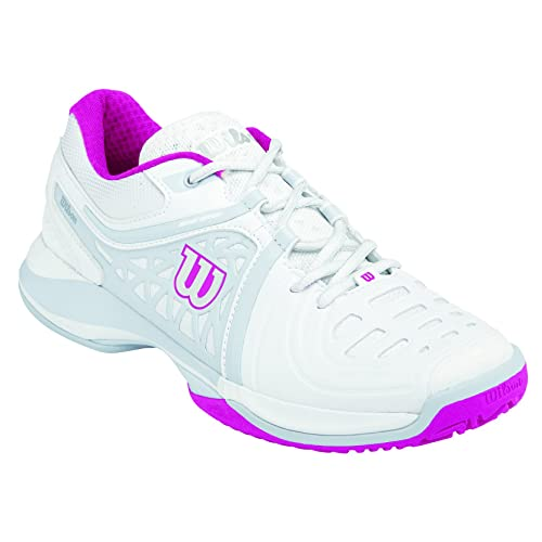 Wilson Nvision Elite Woman, Women's Tennis Shoes, White (White/steel  Grey/cool Grey W), 7.5 UK (41 1/3 EU): Amazon.co.uk: Shoes & Bags
